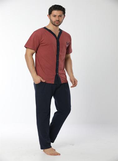 Akbeniz Pijama Takım Kiremit